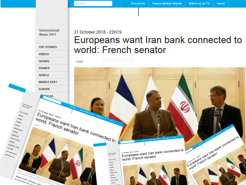 Europeans want Iran bank connected to world